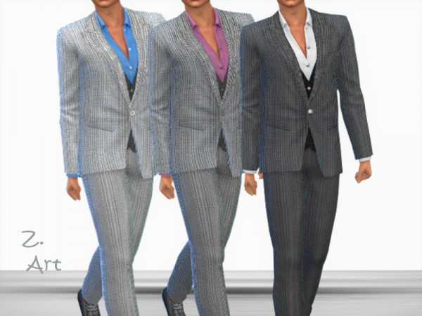 The Sims Resource: Smart Fashion 07 Suit by Zuckerschnute20