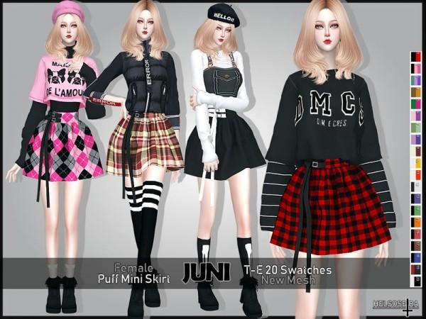 The Sims Resource: JUNI   Puff Mini Skirt