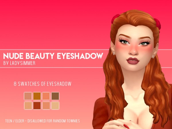 The Sims Resource: Beauty Eyeshadow by LadySimmer94