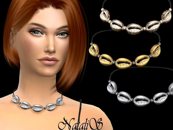The Sims Resource: Cowrie shells necklace by NataliS
