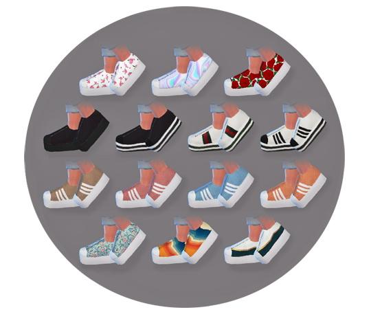 Descargas Sims: Platform Sneakers