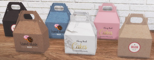 Descargas Sims: Cake Boxes and Cans