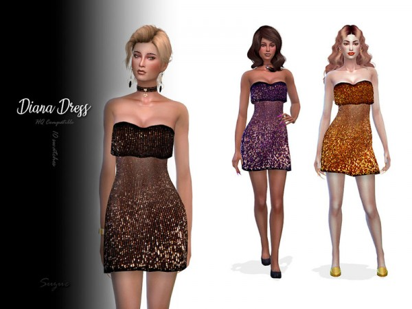 The Sims Resource: Diana Dress by Suzue
