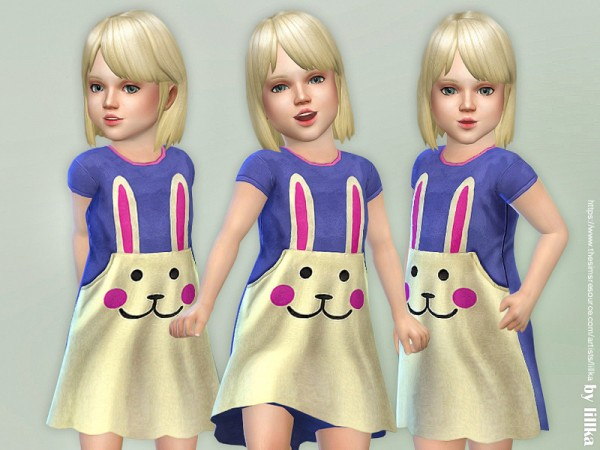 The Sims Resource: Bunny Pocket Dress by lillka