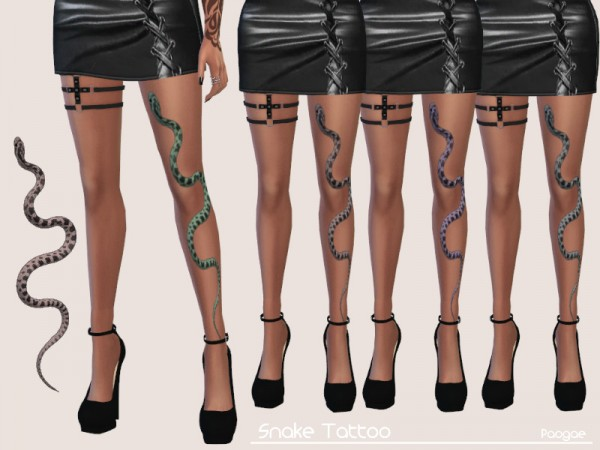 The Sims Resource: Snake Tattoo by Paogae
