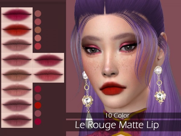 The Sims Resource: Le Rouge Matte Lip by Lisaminicatsims
