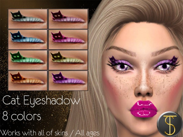 The Sims Resource: Cat Eyeshadow by turksimmer