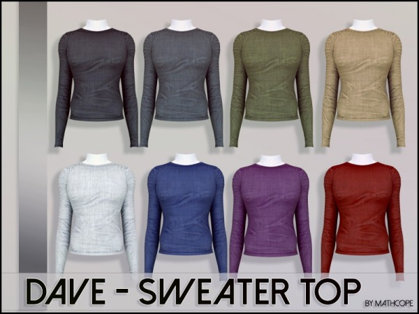 Sims Studio: Dave sweater top by Mathcope