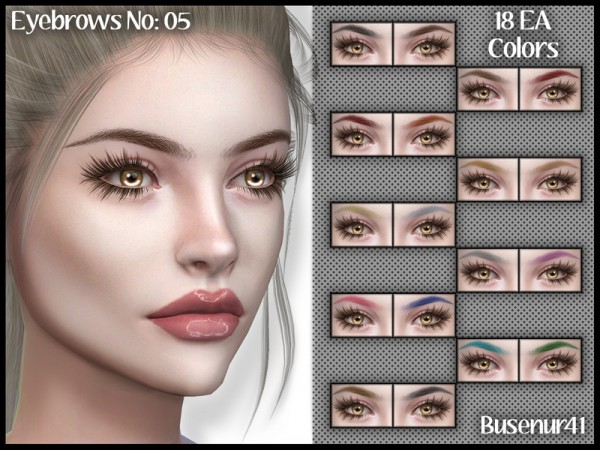 The Sims Resource: Eyebrows N05 by busenur41