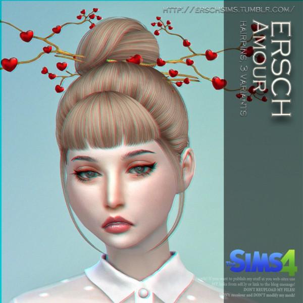 ErSch Sims: Amour Hairpins