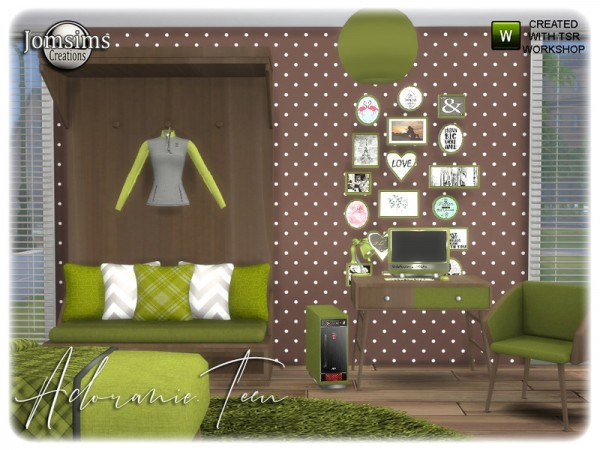 The Sims Resource: Adoranie teen bedroom by jomsims