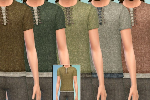 Blackys Sims 4 Zoo: VikingTop and Pants 3 by mammut
