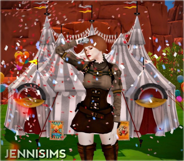 Jenni Sims: Decorative Environment Stands, Circus, Submarine