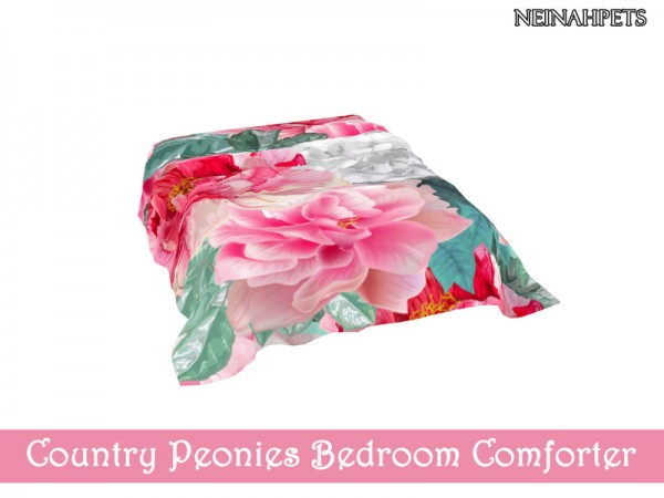 The Sims Resource: Country Peonies Bedroom by neinahpets