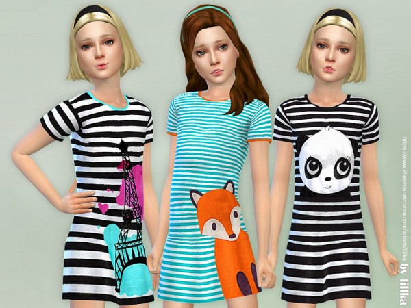 The Sims Resource: Dresses Collection P124 by lillka