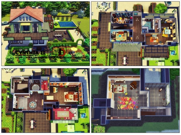 The Sims Resource: Cynthia II house by Danuta720