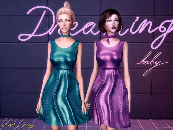 The Sims Resource: Pearl Dress by Genius666