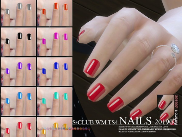 The Sims Resource: Nails 201907 by S Club