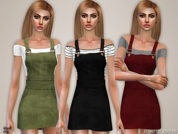 The Sims Resource: Jumper Dress by Black Lily