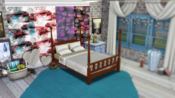 Annett`s Sims 4 Welt: Wallpaper Colorful Forest