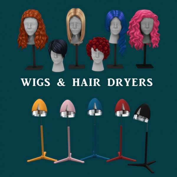 Leo 4 Sims: Wigs and Hair Dryers