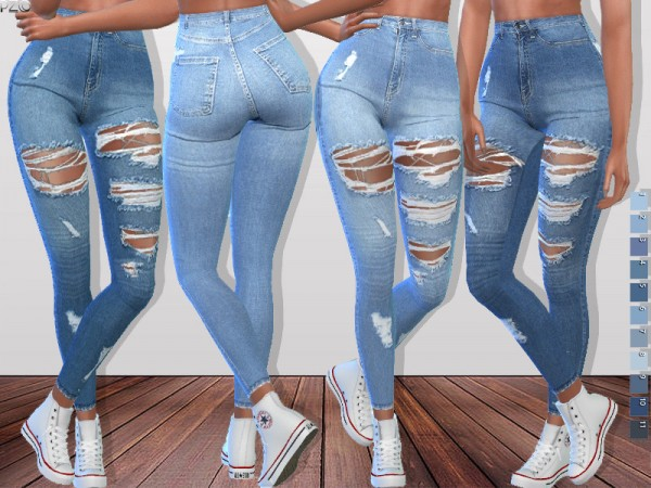 The Sims Resource: Denim Ripped Jeans 093 By