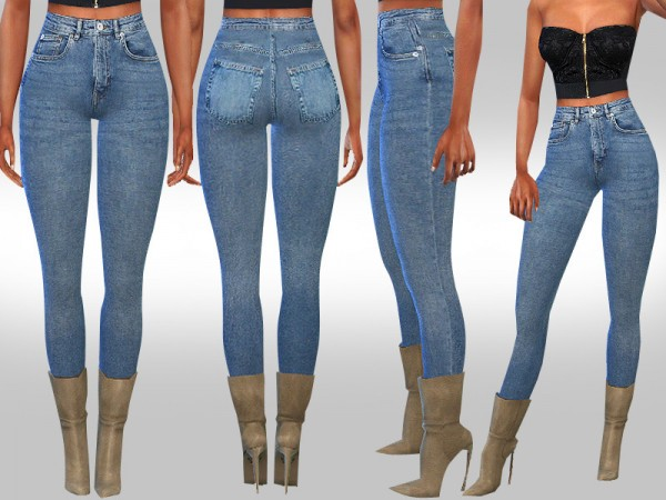 The Sims Resource: Skinny Fit Original Jeans by Saliwa
