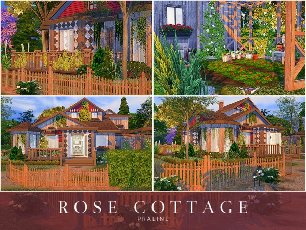 The Sims Resource: Rose CottageHouse by Pralinesims