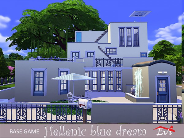 The Sims Resource: Hellenic blue dream house by evi