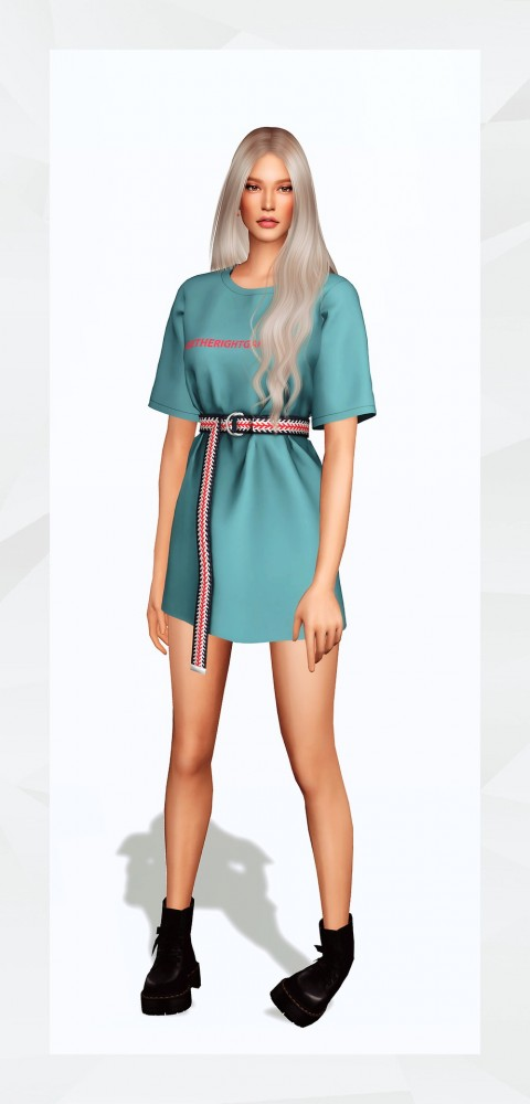 Gorilla: Belted T Shirt Dress