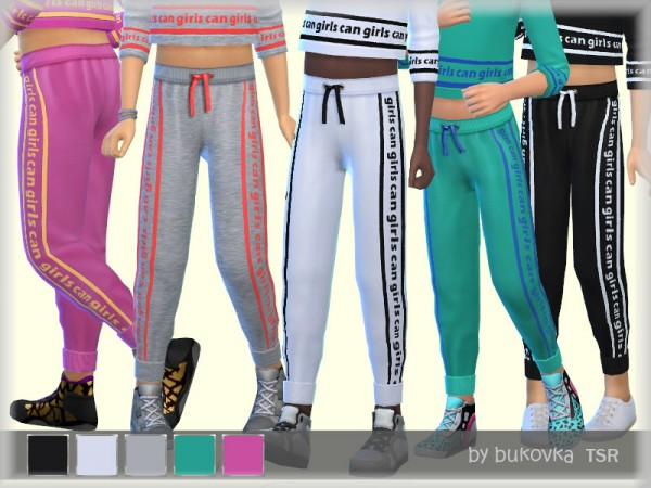 The Sims Resource: Girls Can pants by bukovka