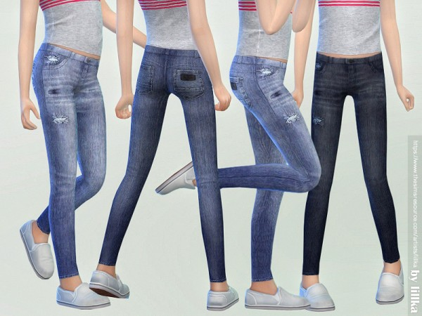 The Sims Resource: Skinny Jeans for Girls 03 by lillka