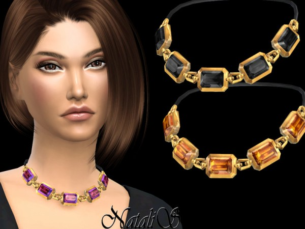 The Sims Resource: Octagon crystals necklace by NataliS
