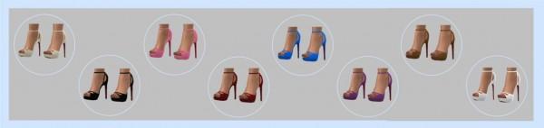 Sims 4 Sue: Madlen`s Attila shoes recolored