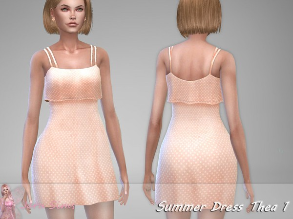 The Sims Resource: Summer Dress Thea 1 by Jaru Sims