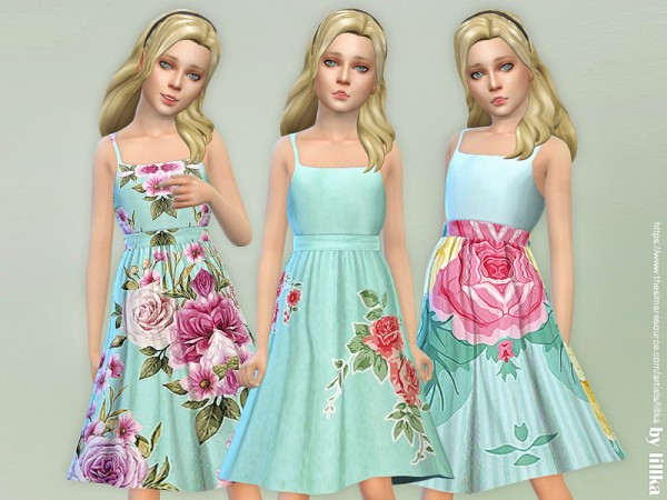 The Sims Resource: Girls Dresses Collection P123 by lillka