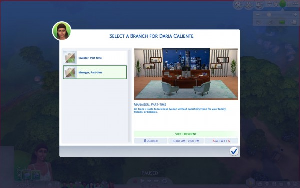 Mod The Sims: Part time Business Career by Arialyx
