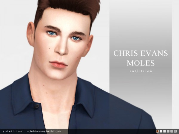 The Sims Resource: Chris Evans moles by soleilzion