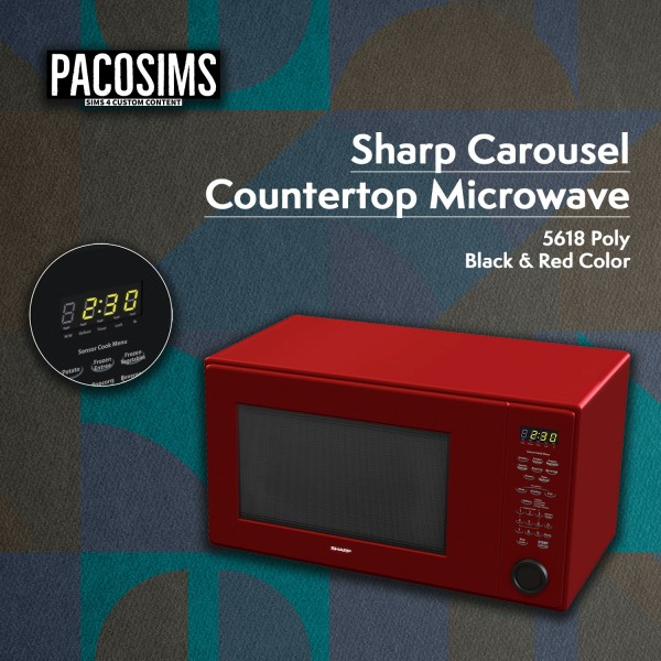 Paco Sims: Sharp Carousel Microwave decor
