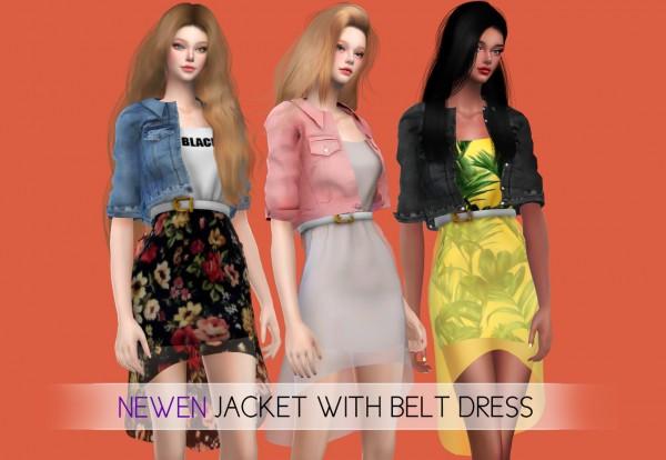Newen: Jacket With Belt Dress