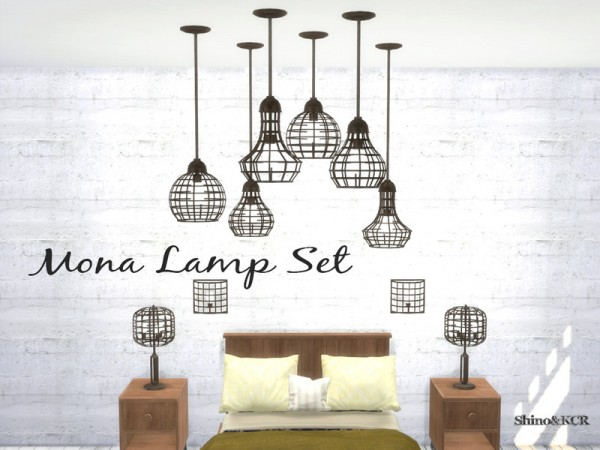 The Sims Resource: Mona Light Set by ShinoKCR
