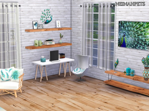 The Sims Resource: Peacock Living Collection by neinahpets