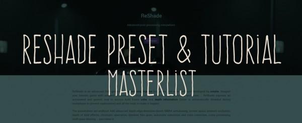 Picture Amoebae: Reshade Preset and Tutorial Masterlist