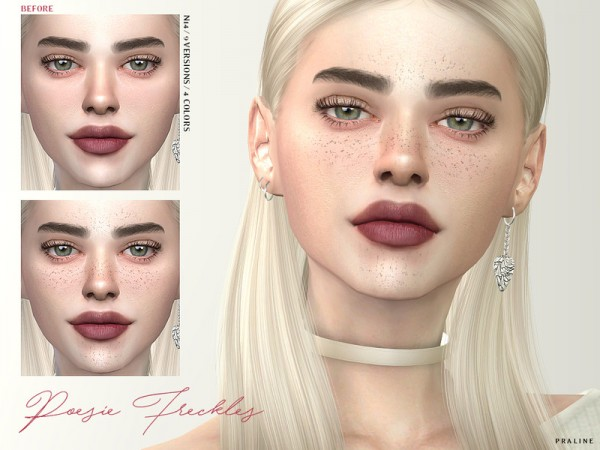 The Sims Resource: Poesie Freckles N14 by Pralinesims