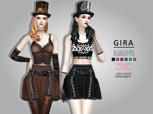 The Sims Resource: GIRA   Mini Skirt by Helsoseira