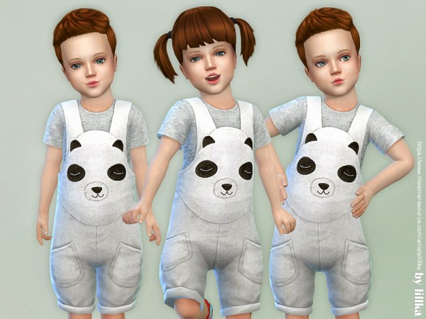 The Sims Resource: Panda Overall by lillka