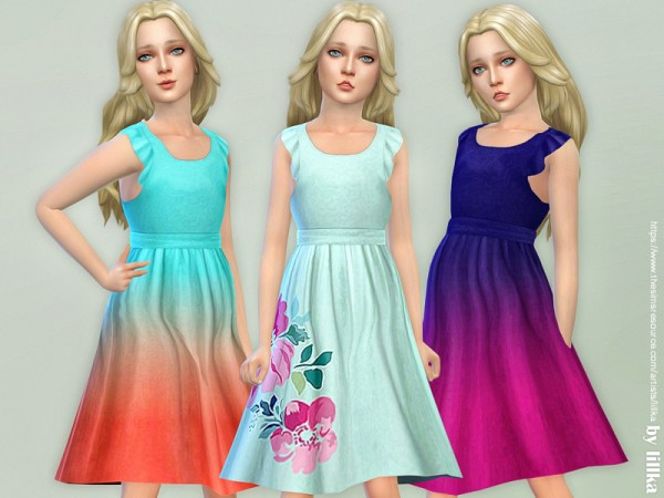 The Sims Resource: Girls Dresses Collection P121 by lillka