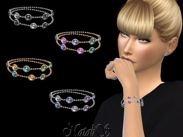 The Sims Resource: Mixed gemstones bracelet by NataliS