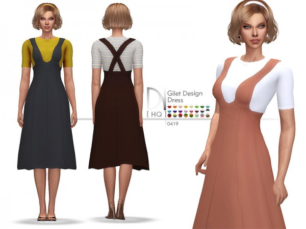 The Sims Resource: Gilet Design Dress by DarkNighTt
