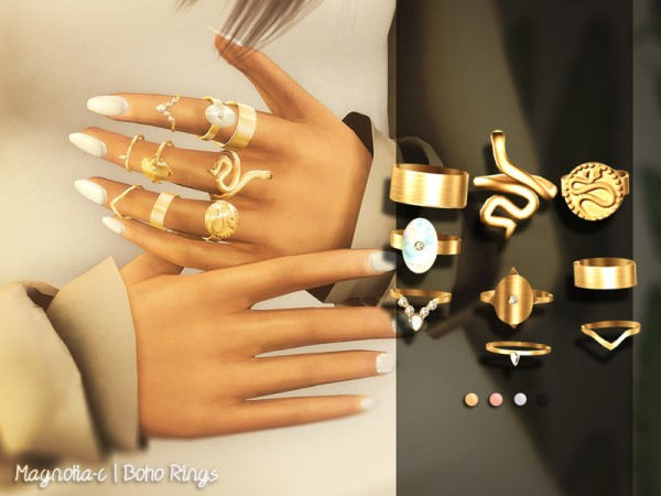 The Sims Resource: Boho Rings by magnolia c